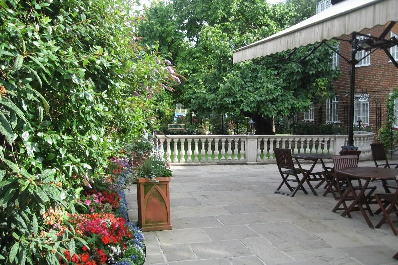 Our peaceful garden terrace